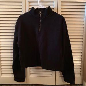 Cotton On Half-Zip Cropped Pullover Sweatshirt